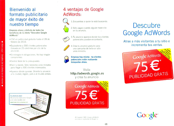 adwords carta Google