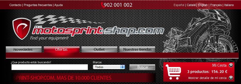 Restyling MotoSprint-Shop