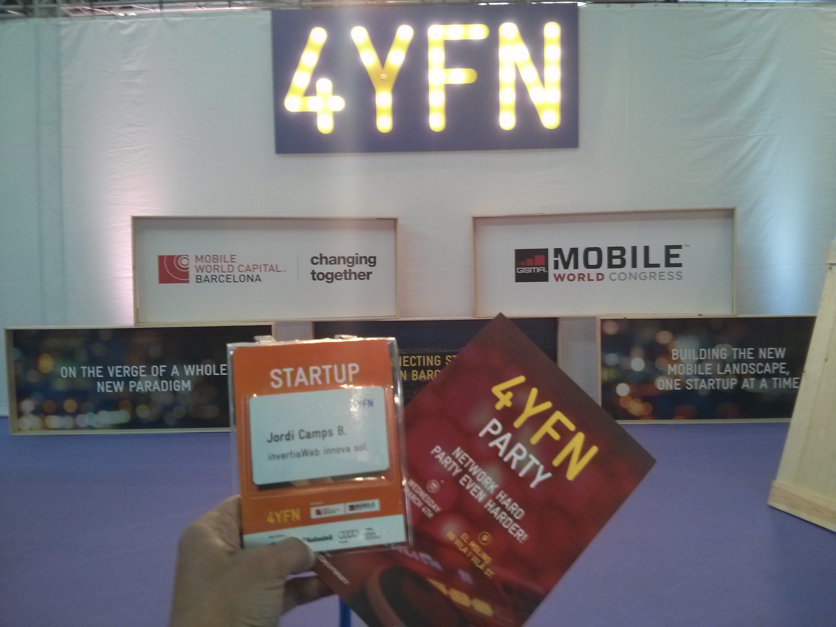 Asistimos al #4YFN2015 un evento para #Startups