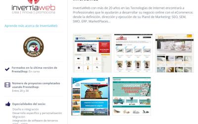 InvertiaWeb, nueva agencia en Girona asociada por Prestashop